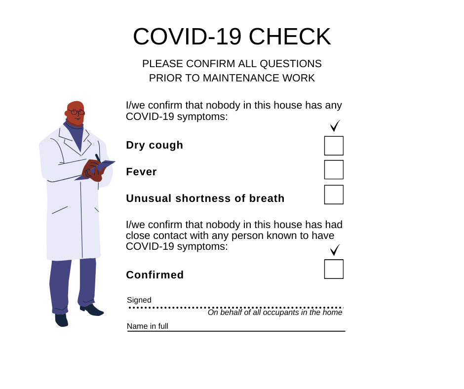 Wills & Smerdon COVID19 maintenance checklist