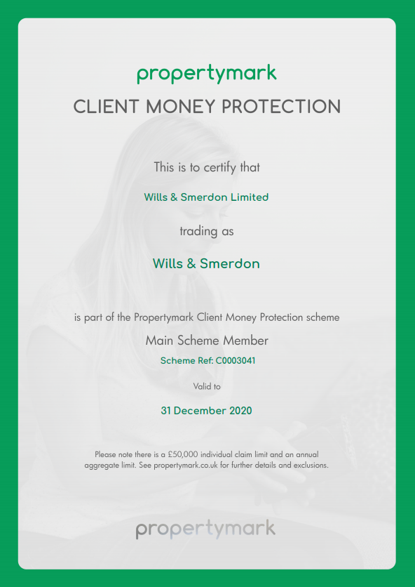 WILLS AND SMERDON CLIENT MONEY PROTECTION