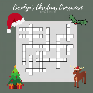 Carolyn's Christmas Crossword Picture