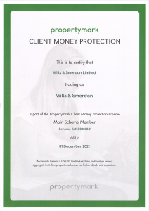 Client Money Protection Certificate Wills & Smerdon 2021