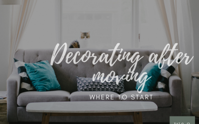 Decorating after moving: where to start